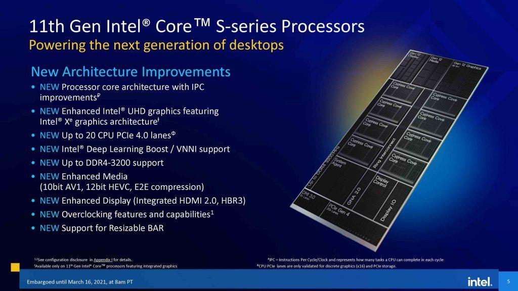 Intel 11th gen Core Desktop Processor