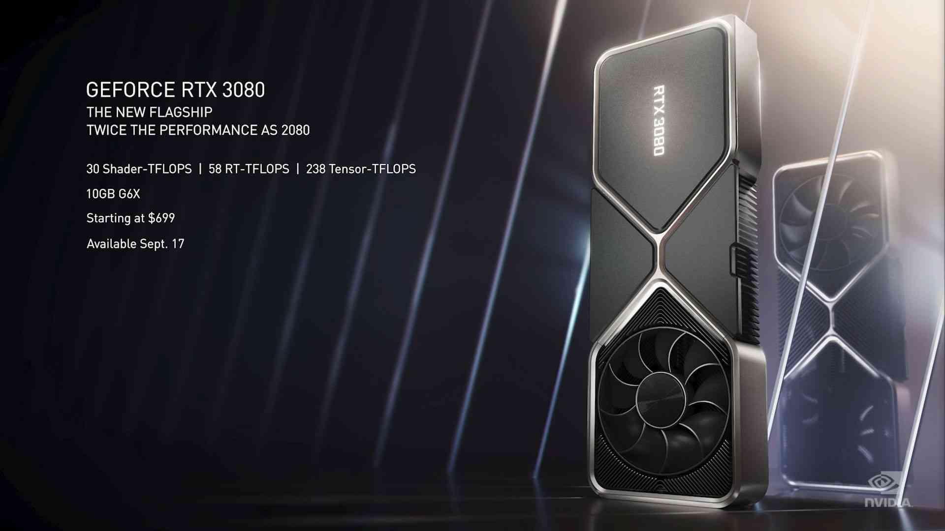 Nvidia RTX 3080 GPU Specs and Price