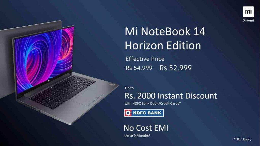Mi Notebook 14 Horizon Edition offer.
