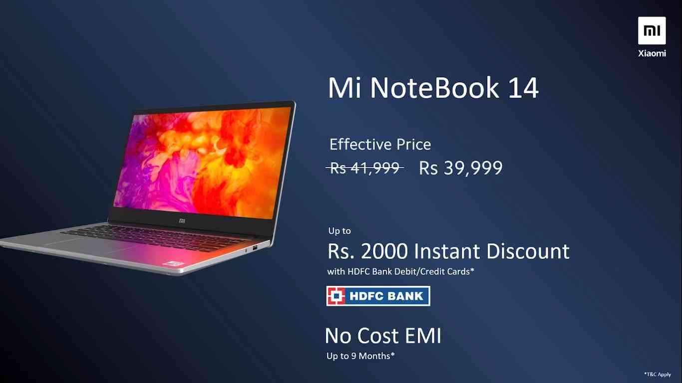 Mi Notebook 14 offer.
