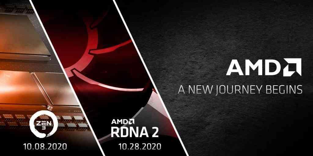 AMD Zen 3 CPU and RDNA 2 launch dates.