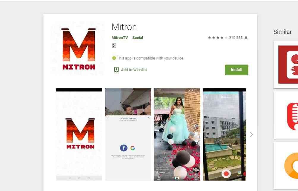 Mitron app officially back to Google Play Store