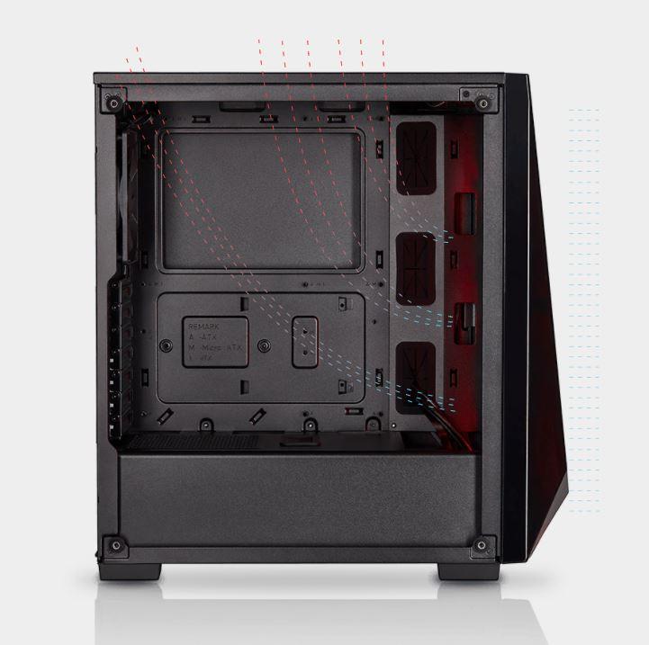 Optimal case airflow